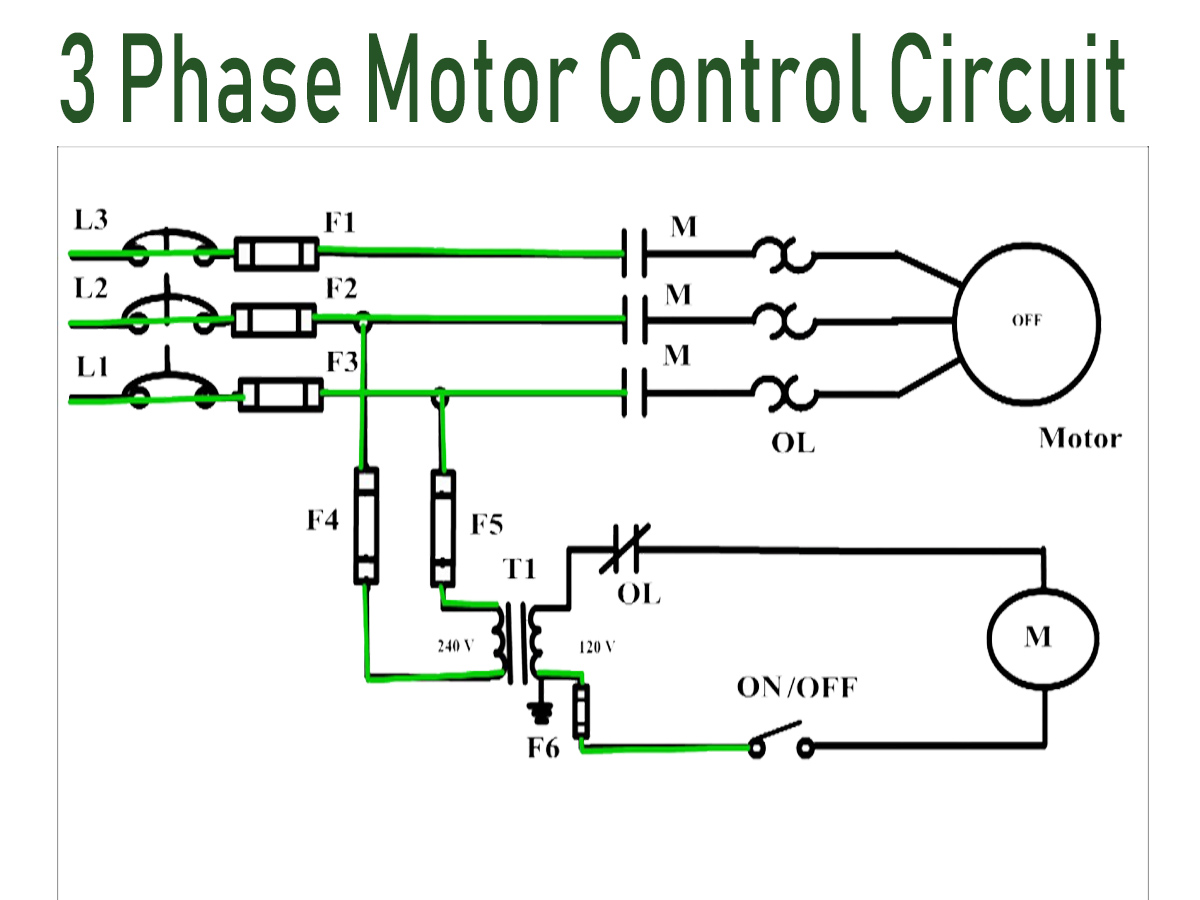 How 3 Phase Motor Control Circuit Works