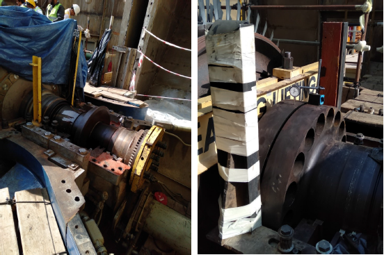 Gas Turbine Labyrinths Clearances, Couplings Unbolting, Compressor Rotor